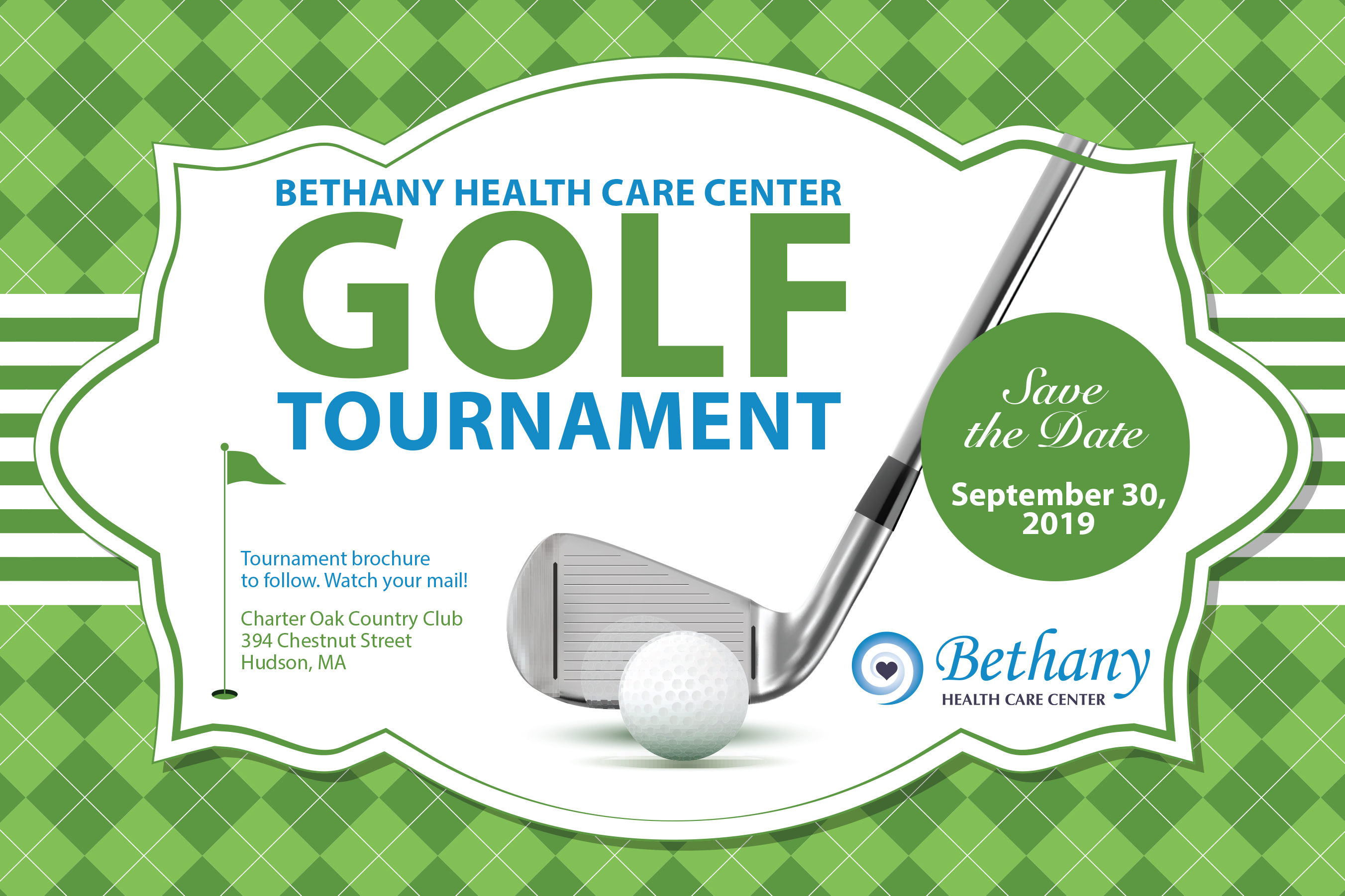 Save the Date for Bethany's 13th Annual Golf Tournament!